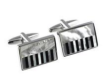Piano / Keyboard Cuff Links Music Present Musician Pianist Cufflinks GIFT BOXED
