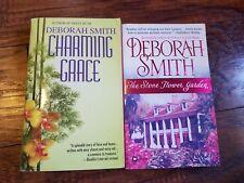 Lot of 2 Deborah Smith Paperbacks, The Stone Flower Garden, Charming Grace