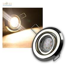 5er SET MR11 LED focos empotrados LATÓN cada 8 Power SMD LEDs Blanco Cálido