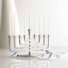 Polished Aluminium MENORAH....... Hanukka menora Jewish chanukah judaica present