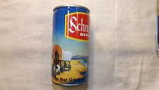 Vintage Schmidt Covered Wagon Train Beer Can Steel q
