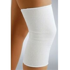 2 White Elasticated Knee Support Guard Patella Sleeve Brace Arthritis NHS Sleeve