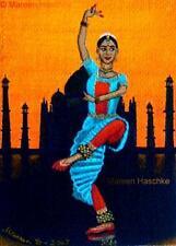 Bharatanatyam India classical dance figure impressionism artist Art Print Mareen