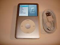 APPLE  iPOD  CLASSIC  7TH GEN.   SILVER  120GB...NEW  BATTERY...