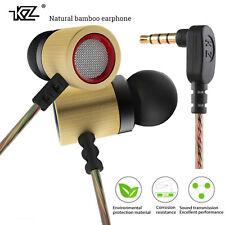 Original Kz ED7 Bambú Madera In-Ear bajo Auricular Pu-Hardcase Hifi Alta Calidad