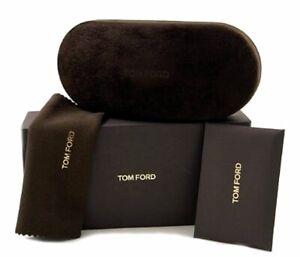 NEW TOM FORD SUNGLASSES EYEGLASSES LARGE BLACK VELOUR BOX CASE CLOTH DOCUMENT
