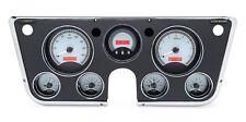 67-72 Chevy Truck C10 Dakota Digital Silver Alloy & Red VHX Analog Gauge Kit