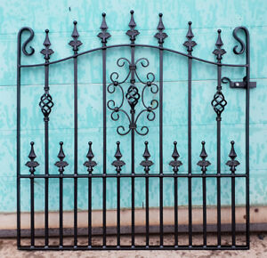 Safety Top Single Garden Gate | Wrought Iron Metal Steel Gates | 3ft 6in Opening