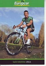 CYCLISME carte cycliste SAID HADDOU équipe EUROPCAR 2011