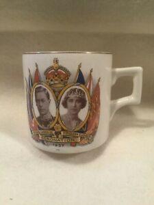 Vintage Coronation Tea Cup Small Mug 1937 HM King George VI HM Queen Elizabeth