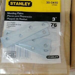 STANLEY- FLAT MENDING PLATE - L75mm - 1pack 4pc - (30-0410)
