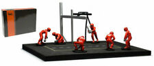 IXO Model FIG001SET Pit Stop Set 6 Figures and Accessories Red With Decals 1 43