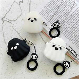 Halloween Ghost Silicone Bluetooth Wireless Earphone Case For Apple Airpods