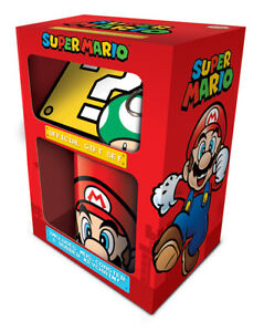 Boxed Gift Box - Super Mario Ceramic Mug Coaster & Keychain - 85204
