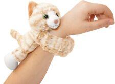 HUGGERS PLUSH TABBY CAT SLAP BRACELET STUFFED ANIMAL TOY BY WILD REPUBLIC