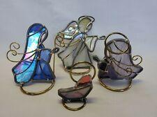 Stained Glass NATIVITY SCENE Joseph, Mary, Jesus, Angel