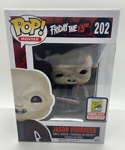 SDCC 2015 FUNKO POP JASON VOORHEES UNMASKED 202 LE 1008 Friday 13th HORROR GRAIL