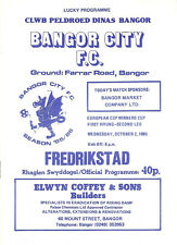 More details for bangor city vfredrikstad european cup winners cup 1st round 2nd leg 2 oct 1985