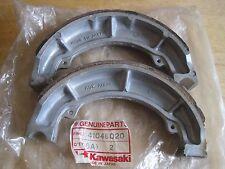 KAWASAKI NOS REAR BRAKE SHOE SET EL250 EX500 KZ305 Z400 Z440    41048-020 / 1069