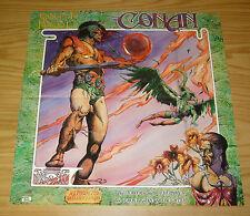 "Conan: Authorized Dramatizations poster - 20"" x 20"" - tim conrad moondance 1976"
