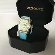 LUCIEN PICCARD DUFONTE BLUE WATCH WITH SWAROVSKI CRYSTALS BRAND NEW 827046BUCZ
