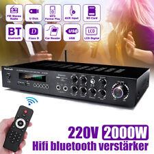 2000W HiFi Verstärker bluetooth 5 Kanal Power Stereo Surround Home Karaoke DE
