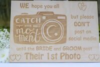 Catch The Moment Wooden Sign - Wedding Decoration