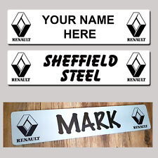 Renault Lorry Truck Trucker Windscreen SHOW PLATES Name Sign personalised