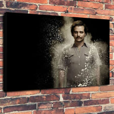 "Narcos Pablo Escobar TV Show Printed Box Canvas Picture A1.30""x20"" 30mm Deep"