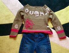 Maglione GURU 100% lana. Verde militare pull sweater Taglia Size S maillon S