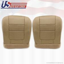 2001 Ford F250 F350 Lariat Driver & Passenger Bottom Leather Seat Covers TAN
