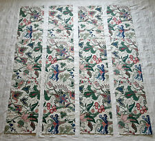 "Waverly Home Fashions - 4 Valances, Floral with Birds - Jacobean 74"" x 14"""