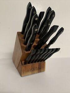 Older CUTCO Homemaker Knife Set 8 Knives 2 Forks + 7 Steak Knives & Wood Block