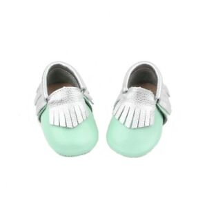 Starbie baby Moccasins Mint Green baby shoes toddler moccasin infant girls boy