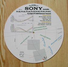 Sony PS-LX2/LX3/LX4/LX5, PS-X45/X55/X55S & PS-X500/PS-X600 tonearm Rapporteur
