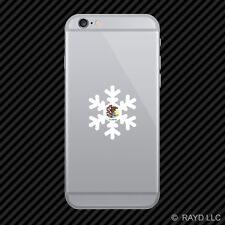 Illinois Snowflake Cell Phone Sticker Mobile IL snow flake snowboard skiing skii