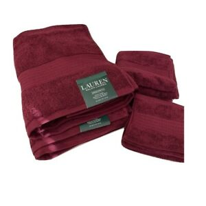 Ralph Lauren Greenwich Towels in Garnet 6Pc Set 2 of Each Bath/Hand/Face Cloth