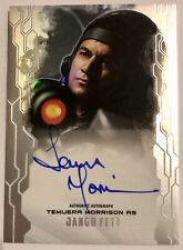 #32/50 Temuera Morrison as Jango Fett autograph Star Wars Masterwork Mandalorian