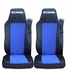 LKW Sitzbezüge Blau schwarz aus Kunstleder Scania R-420 Baujahr 2005-2017