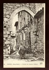 France Alpes-Maritime SOSPEL Gate of ancient castle c1900s? PPC