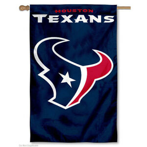 Houston Texans Two Sided Embroidered Nylon House Flag