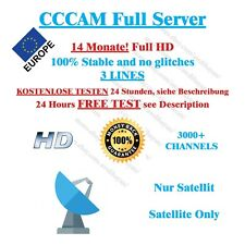 CCCAM Service 14 Months Dreambox vu + Best Price SAT
