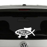 Cthulhu Darwin Fish Vinyl Decal Sticker Car Window