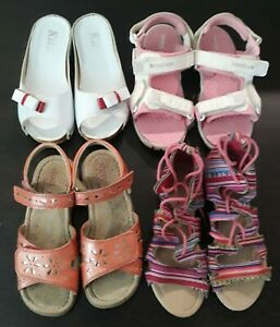 Girls Size 1 / 13 Sandal Shoes Bundle - Weebok / Pumpkin Patch / Smart-Rite etc.