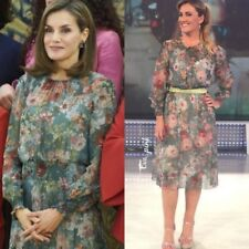 ZARA FLORAL MIDI DRESS QUEEN LETIZIA BLOGGERS SIZE XL EXTRA LARGE
