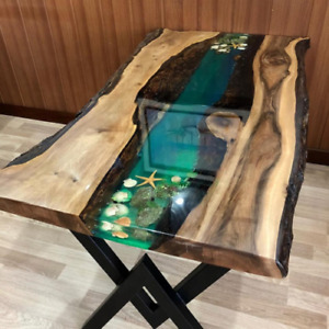 Epoxy Resin Dining and Coffee Table Design Luxury 100% Handmade Table Home Decor