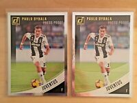 (2 LOT) 2018-19 PANINI DONRUSS SOCCER PRESS PROOF SILVER PAULO DYBALA SKU002