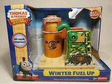 "Thomas & Friends Wooden Railway ""Winter Fuel Up"" Christmas Oil Tank Train NEW"