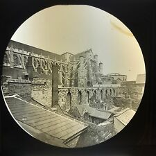 Antique Magic Lantern Glass Slide Photo Westminster Old Refractory