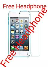 Apple IPOD TOUCH 6 HD Tempered Glass Screen Protector + FREE IPOD HEADPHONE